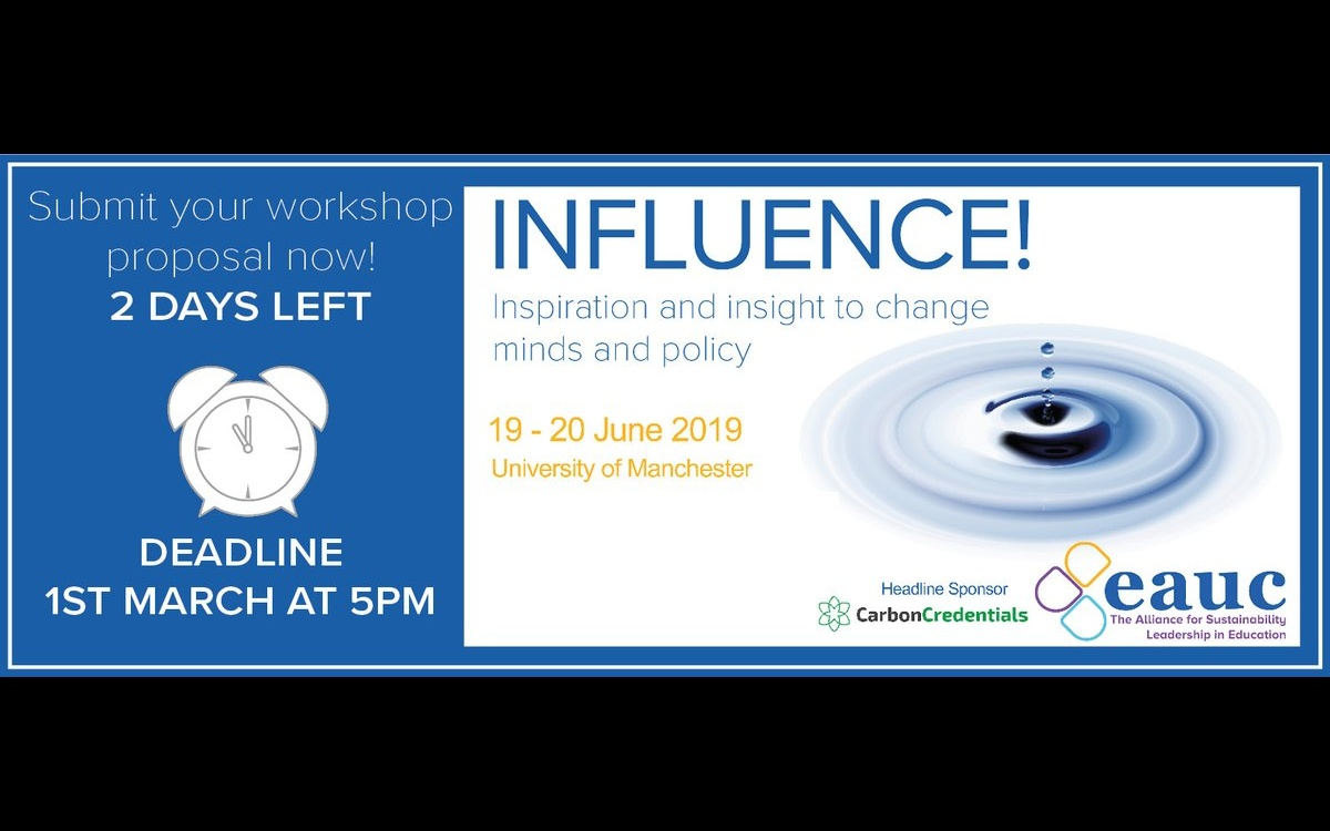 INFLUENCE! - A conference that will build new insight and skill to shape and bring about sustainable institutions.